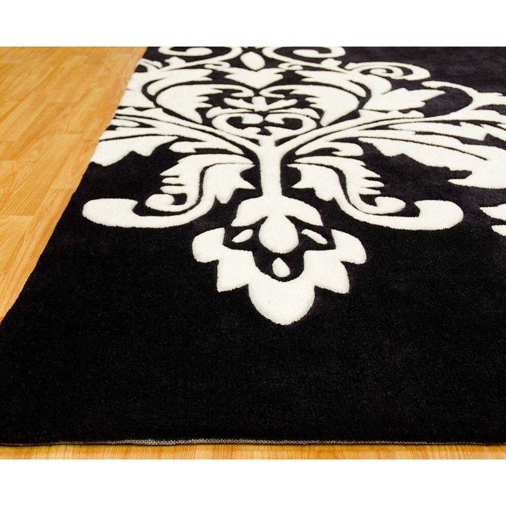 Allstar rugs handmade black area rug for Custom made area rugs