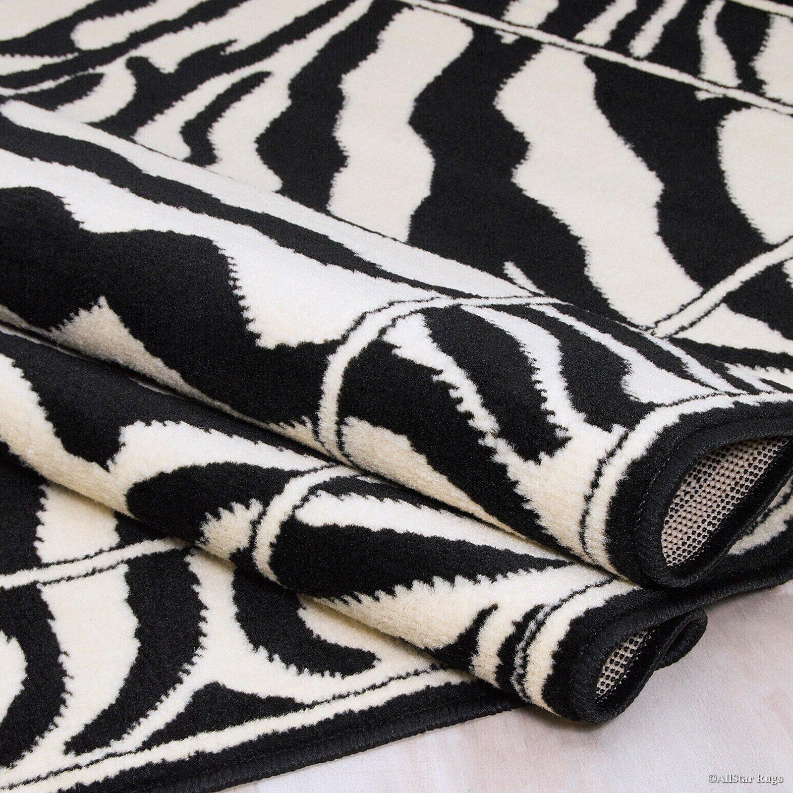 Allstar Rugs Hand Tufted White Black Area Rug Reviews