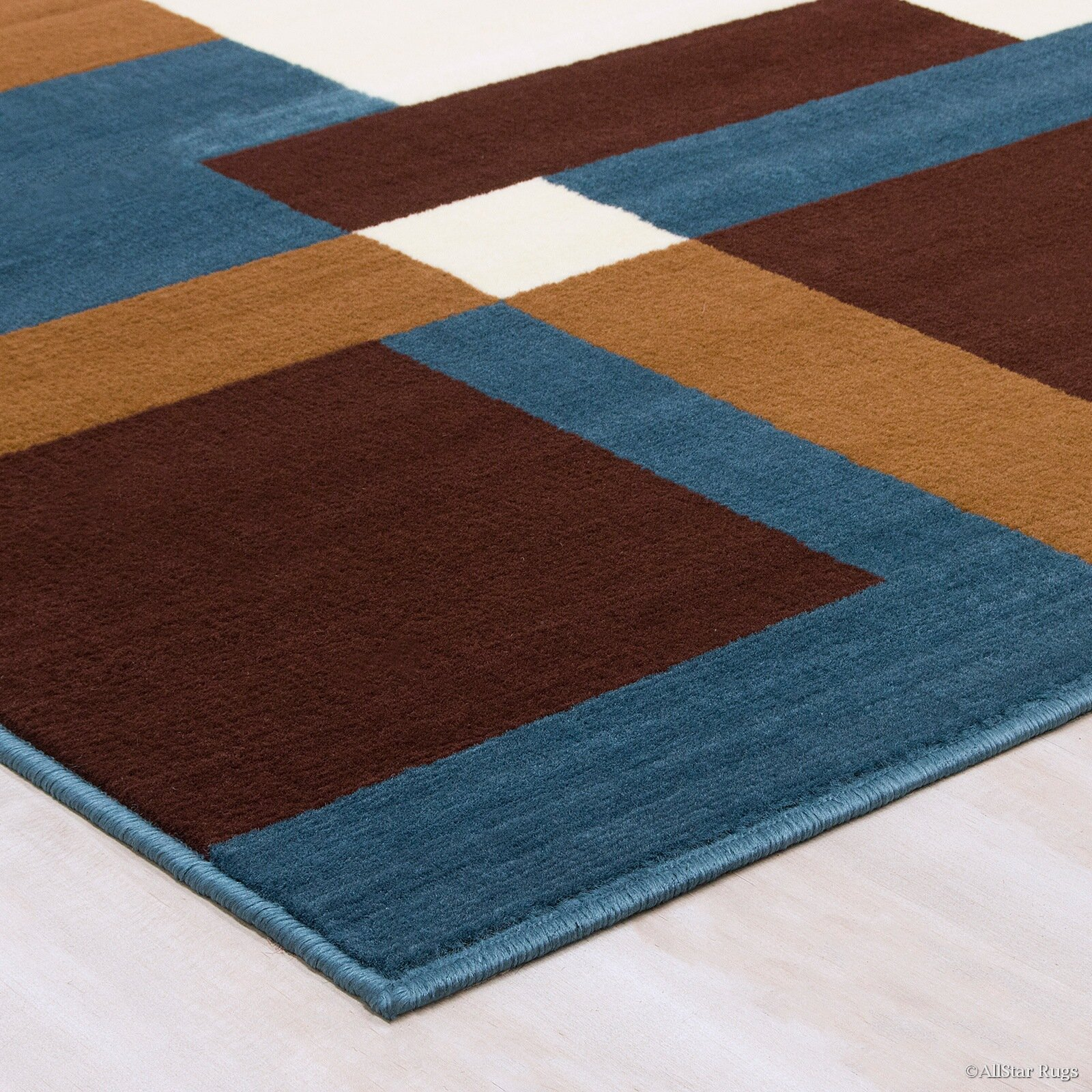 Allstar Rugs Hand Woven Blue Brown Area Rug Wayfair