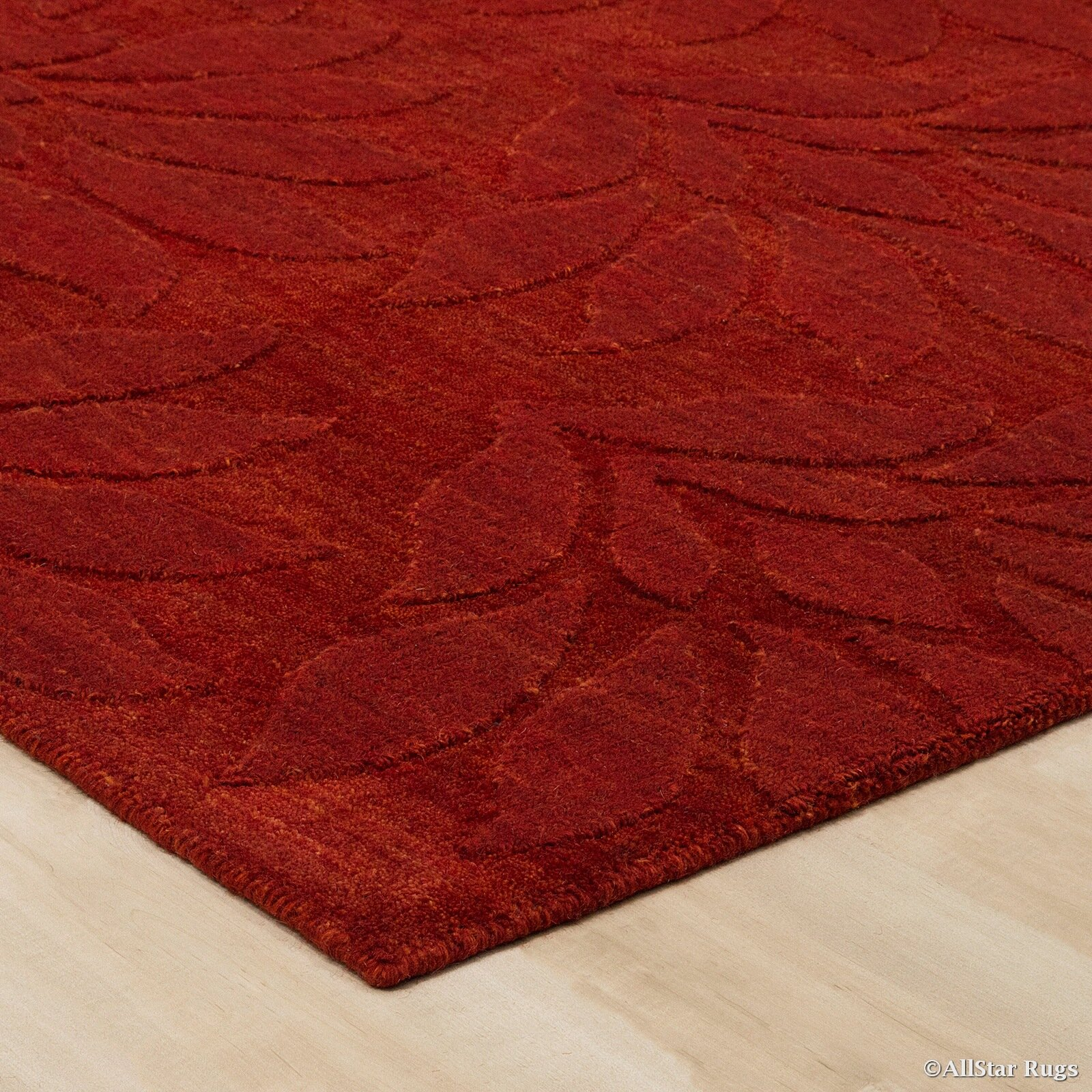 allstar rugs hand woven red area rug wayfair
