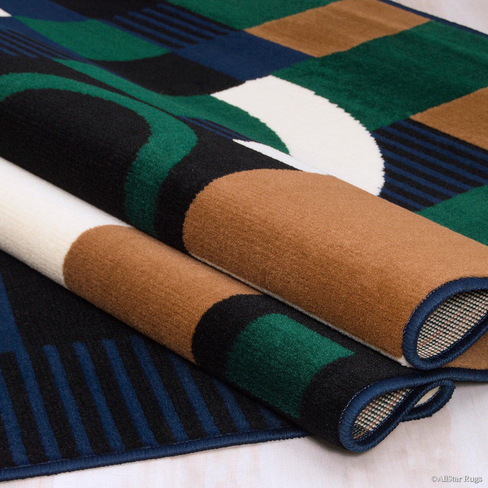 Green Navy Rug