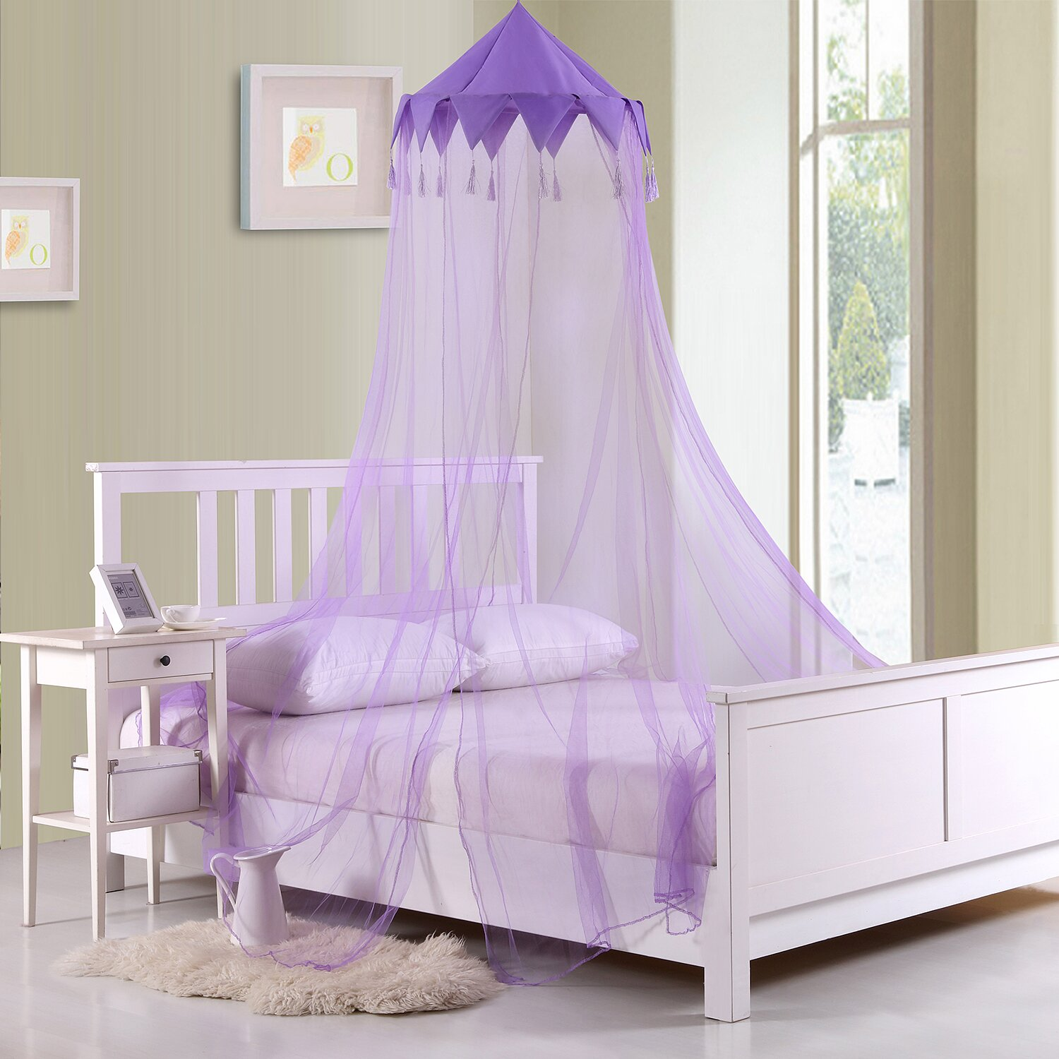 Casablanca Kids Harlequin Kids Collapsible Hoop Sheer Bed