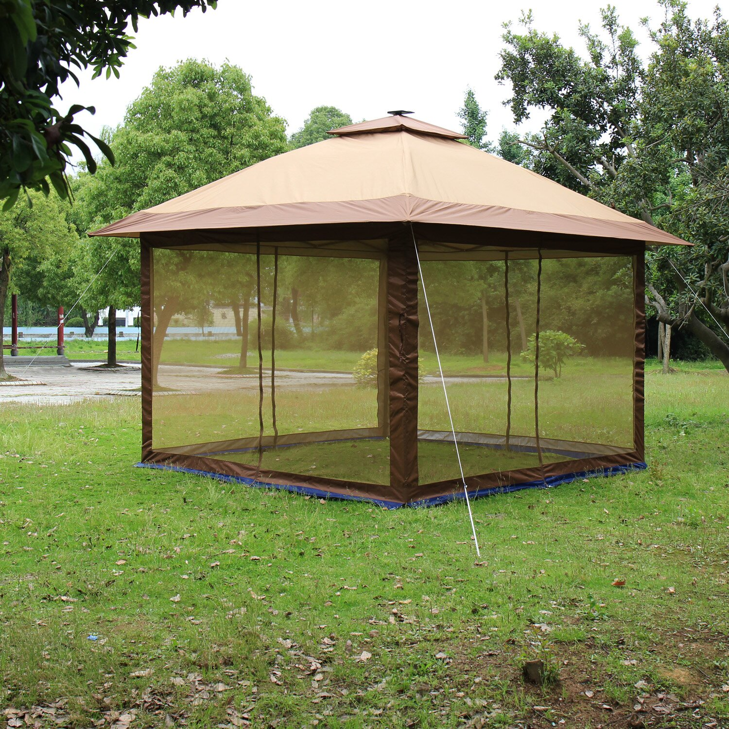 Steel Portable Gazebo : Suntime ft w d metal portable gazebo