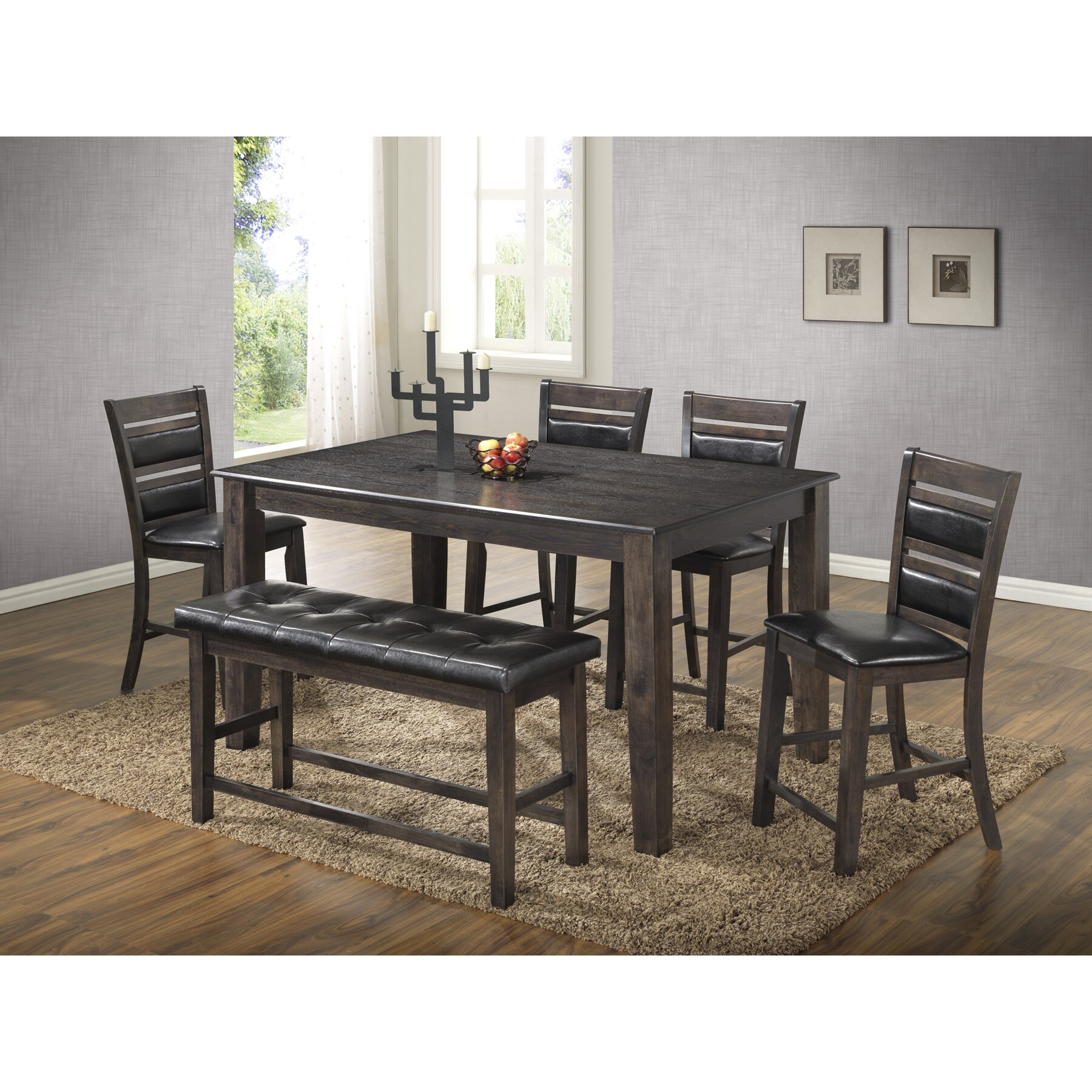 Best quality furniture 6 piece dining set reviews wayfair for Best quality furniture