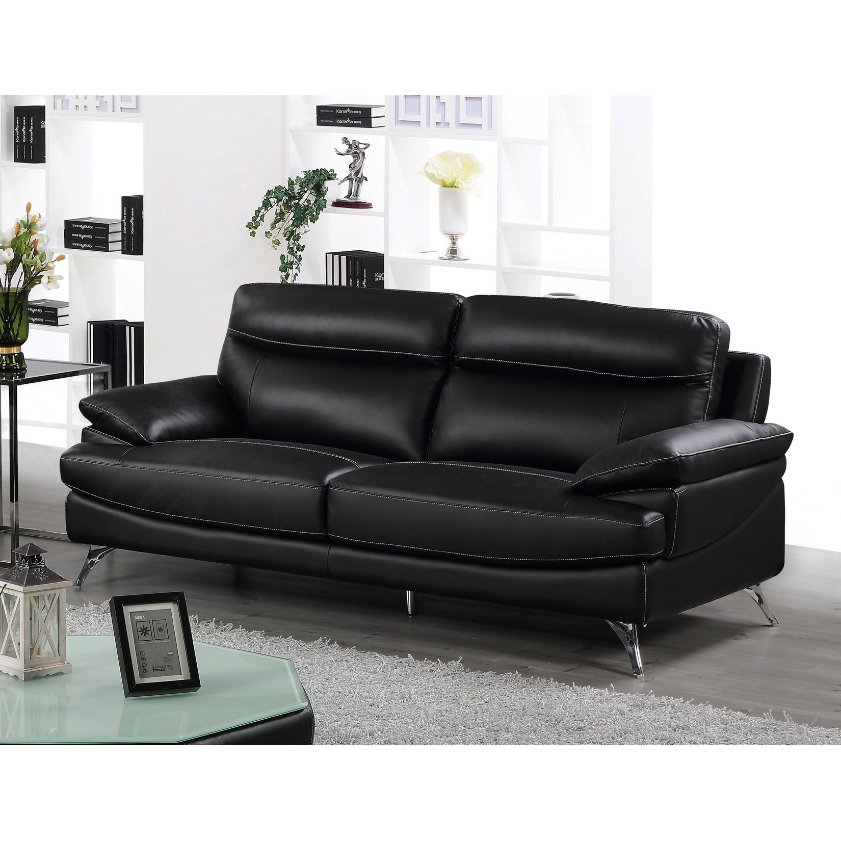 Best quality furniture leather sofa wayfair for Best quality furniture