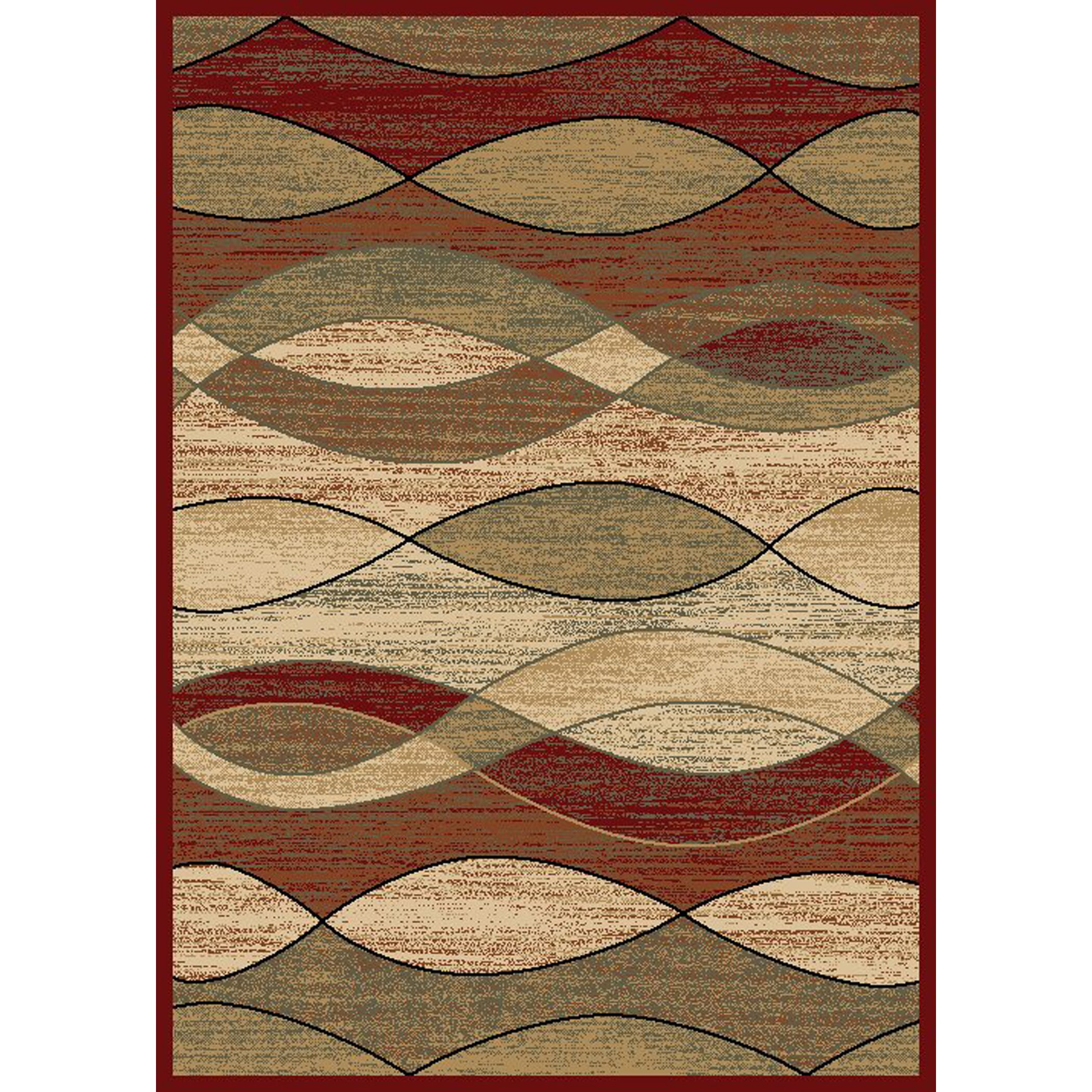 Surfboard Area Rug: Rugs Of Dalton NY City Surf Claret Area Rug