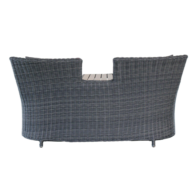 Magari outdoor furniture complete 3 piece deep seating for Outdoor furniture 3 piece