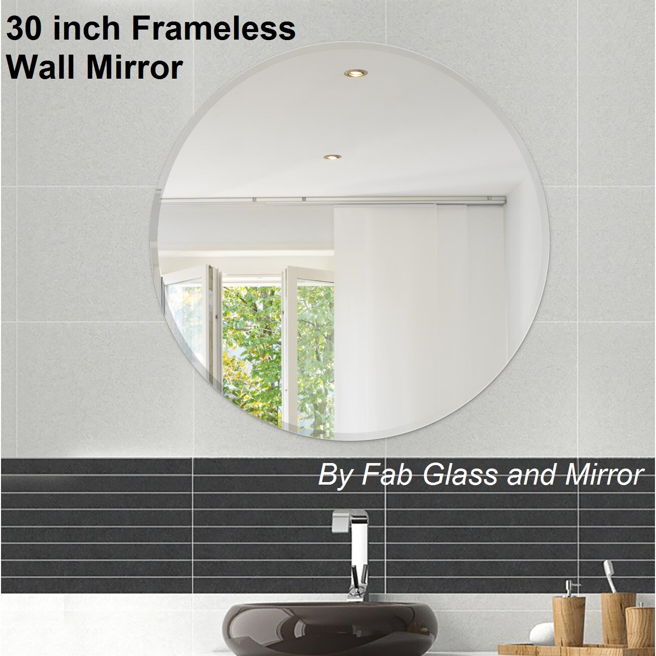 fab glass and mirror beveled polished frameless wall mirror with hooks wayfair. Black Bedroom Furniture Sets. Home Design Ideas