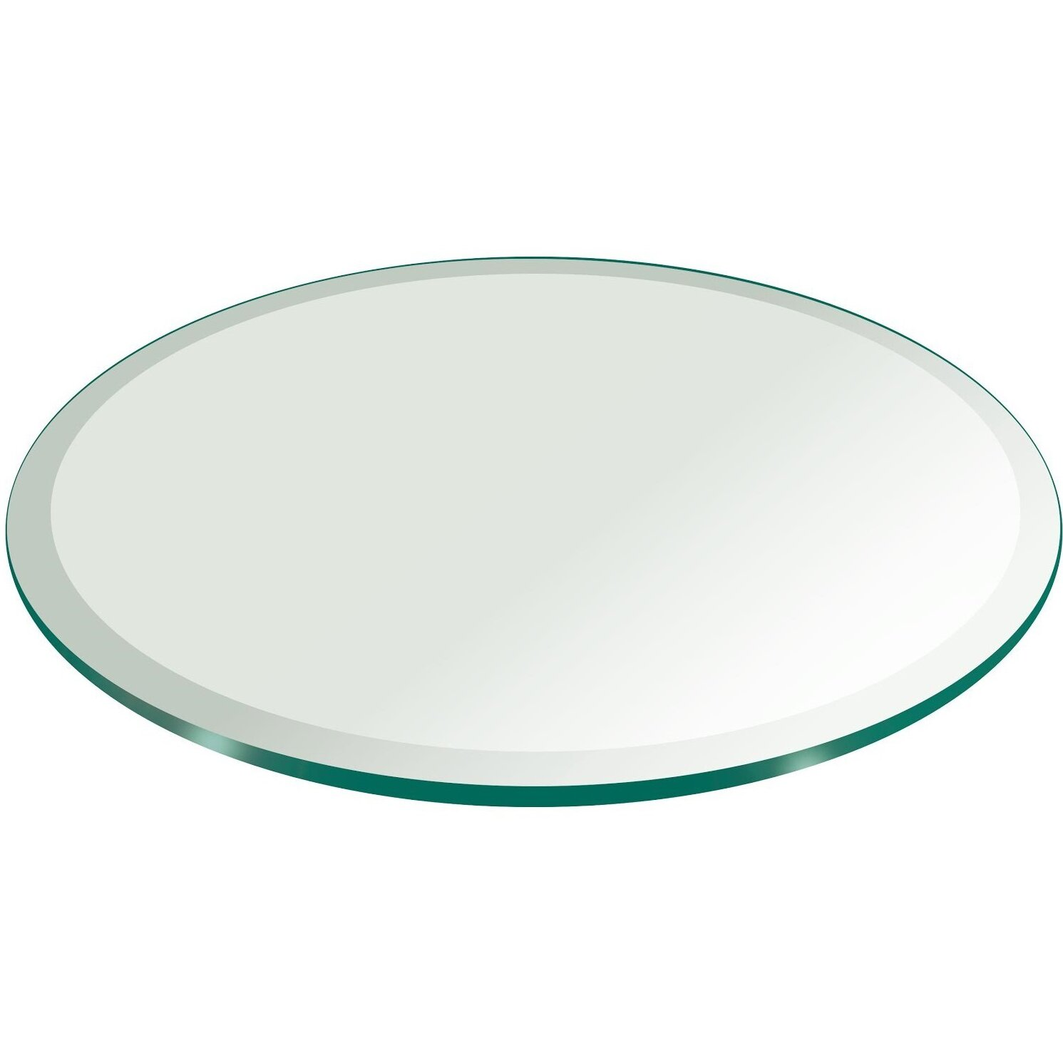 Beveled Glass Centerpiece Mirrors : Fab glass and mirror round beveled edge tempered