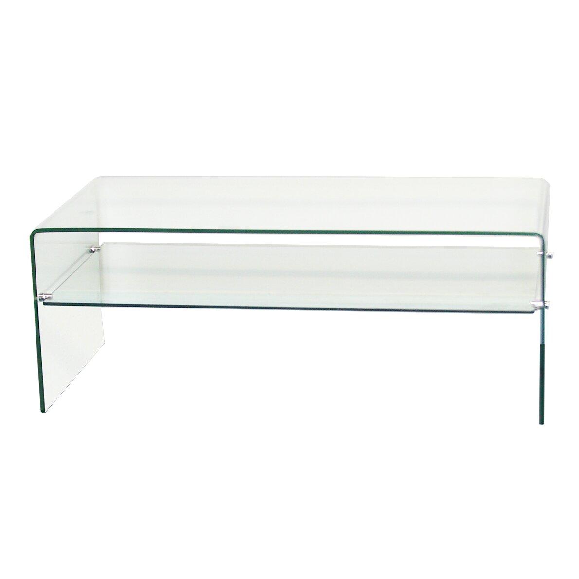 Fab Glass And Mirror Coffee Table Wayfair