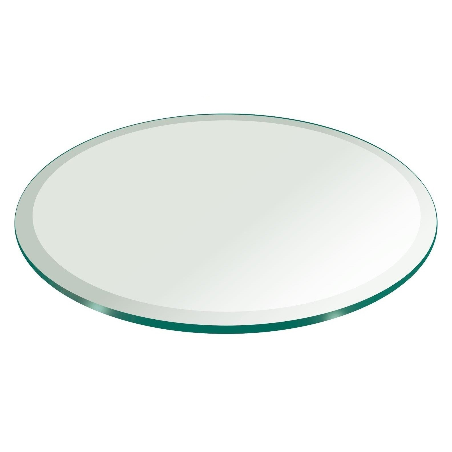Fab glass and mirror round beveled tempered glass table for 12 inch round glass table top
