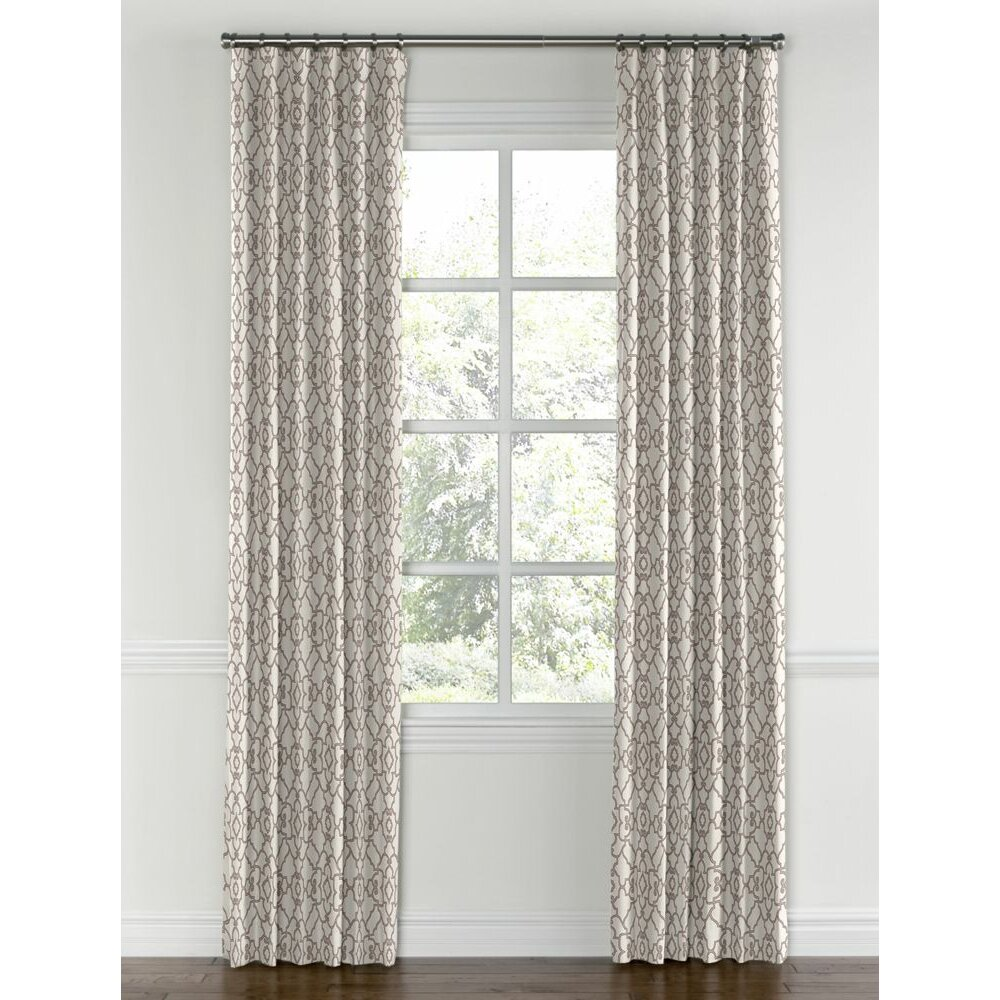 loom decor trellis blackout single curtain panel wayfair
