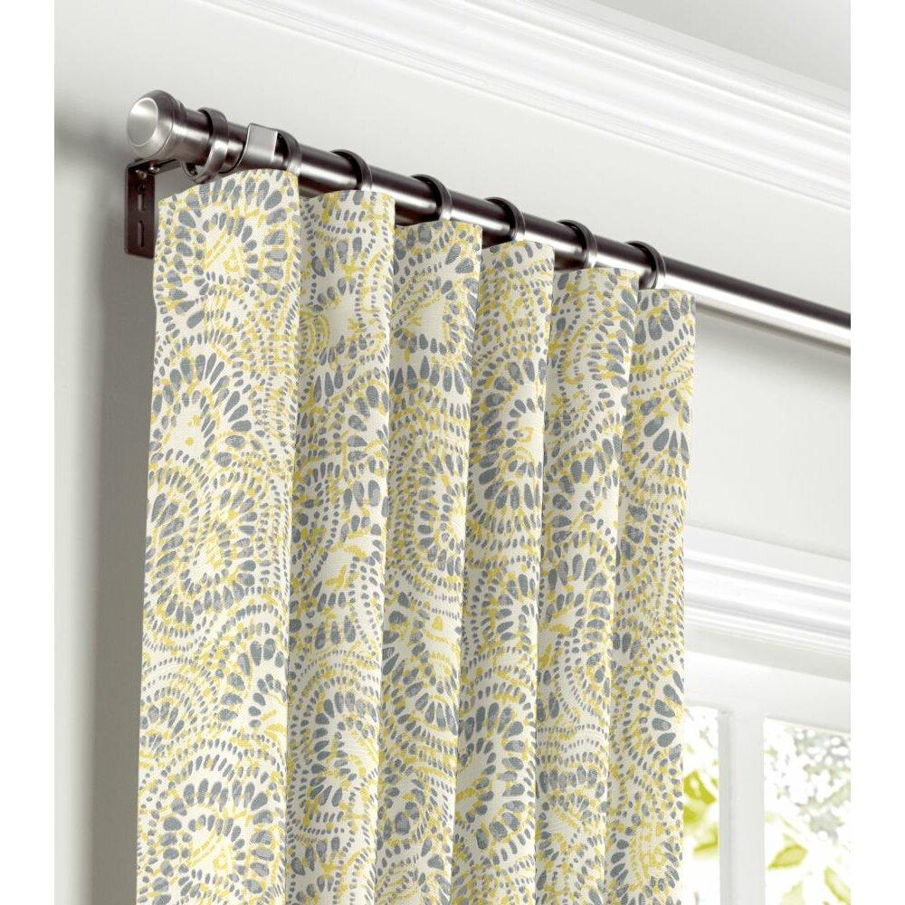 Loom Decor Scalloped Blackout Single Curtain Panel Wayfair