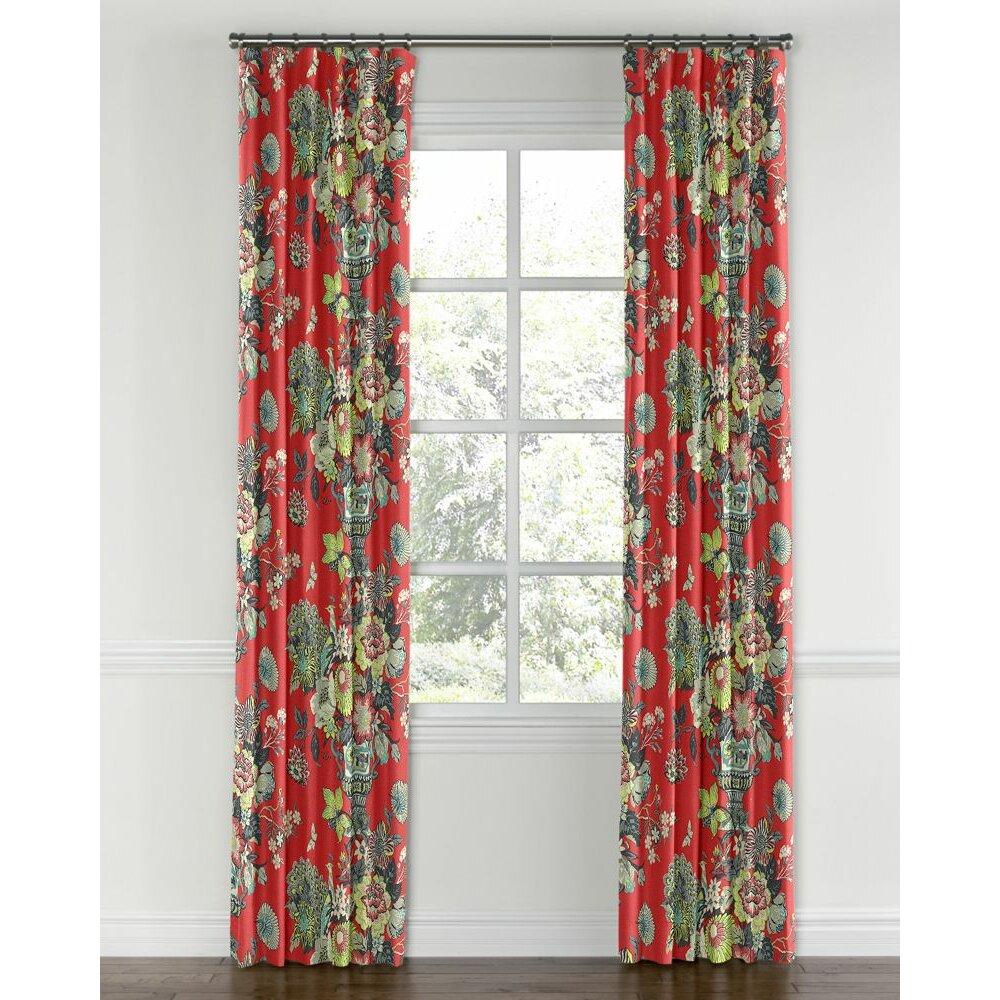 Loom Decor Chinoiserie Blackout Single Curtain Panel Wayfair