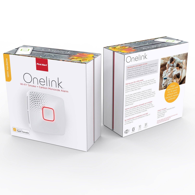 Wi fi smoke carbon monoxide alarm hardwired apple home kit enabled