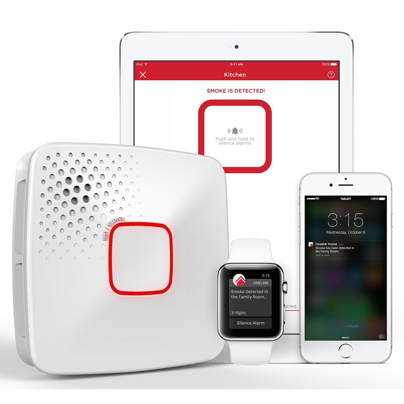 onelink by first alert wi fi smoke carbon monoxide alarm hardwired apple home kit enabled. Black Bedroom Furniture Sets. Home Design Ideas
