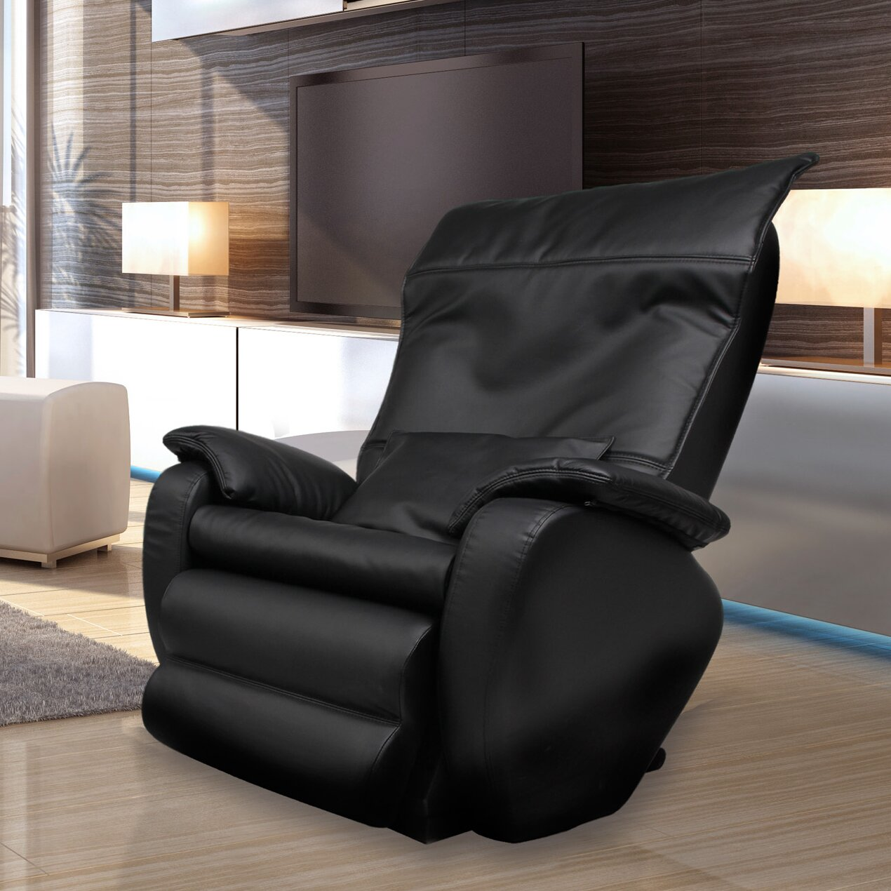Dynamic massage chairs pasadena edition faux leather zero for Living room zero gravity chair