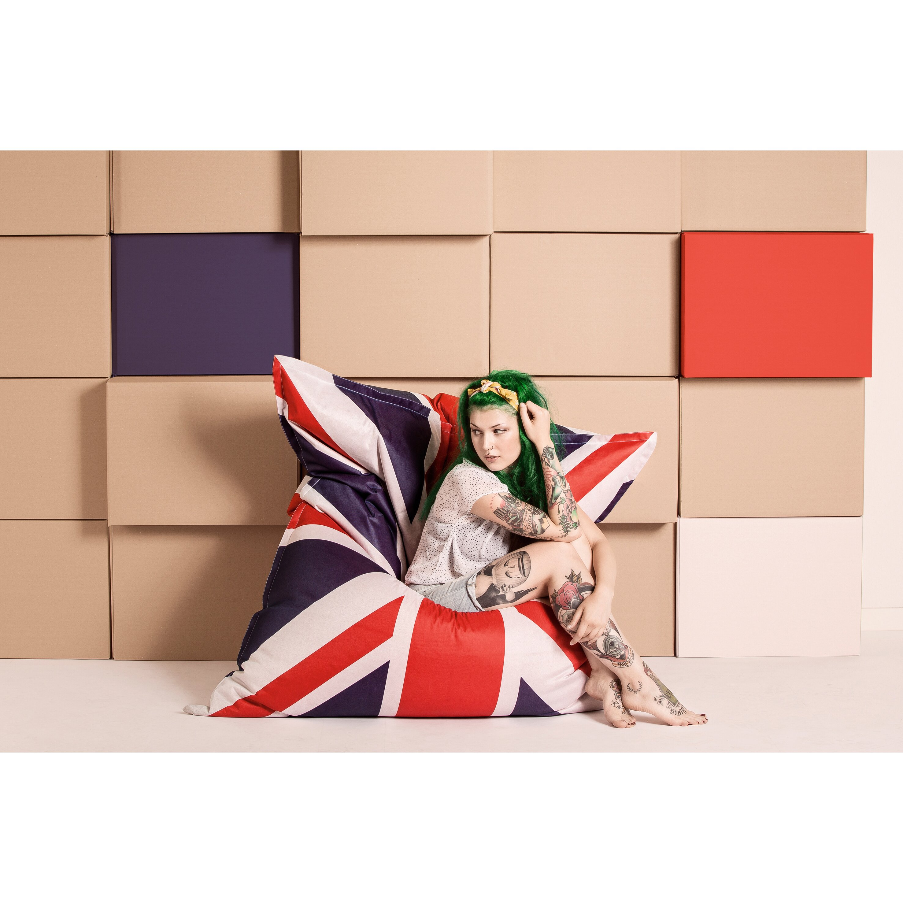 sittingpoint union jack bean bag reviews. Black Bedroom Furniture Sets. Home Design Ideas