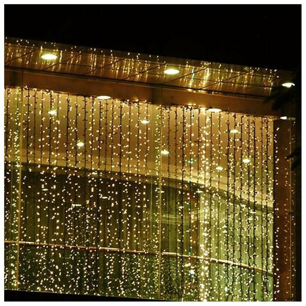 Led Concepts 300 Bulb Led Curtain Light Amp Reviews Wayfair