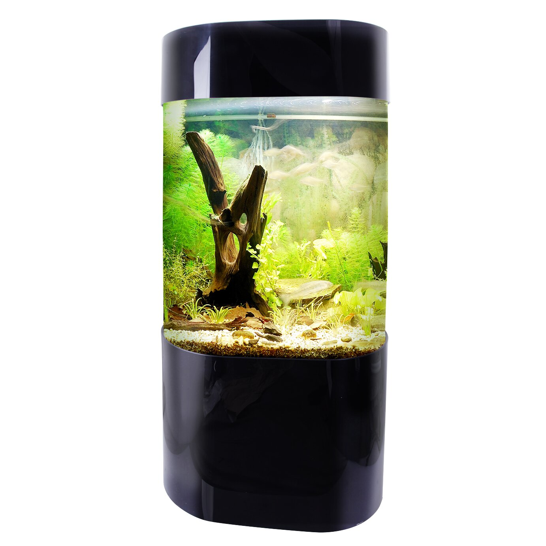 Vepotek 35 gallon aquarium tank wayfair for Walmart fish tank decorations