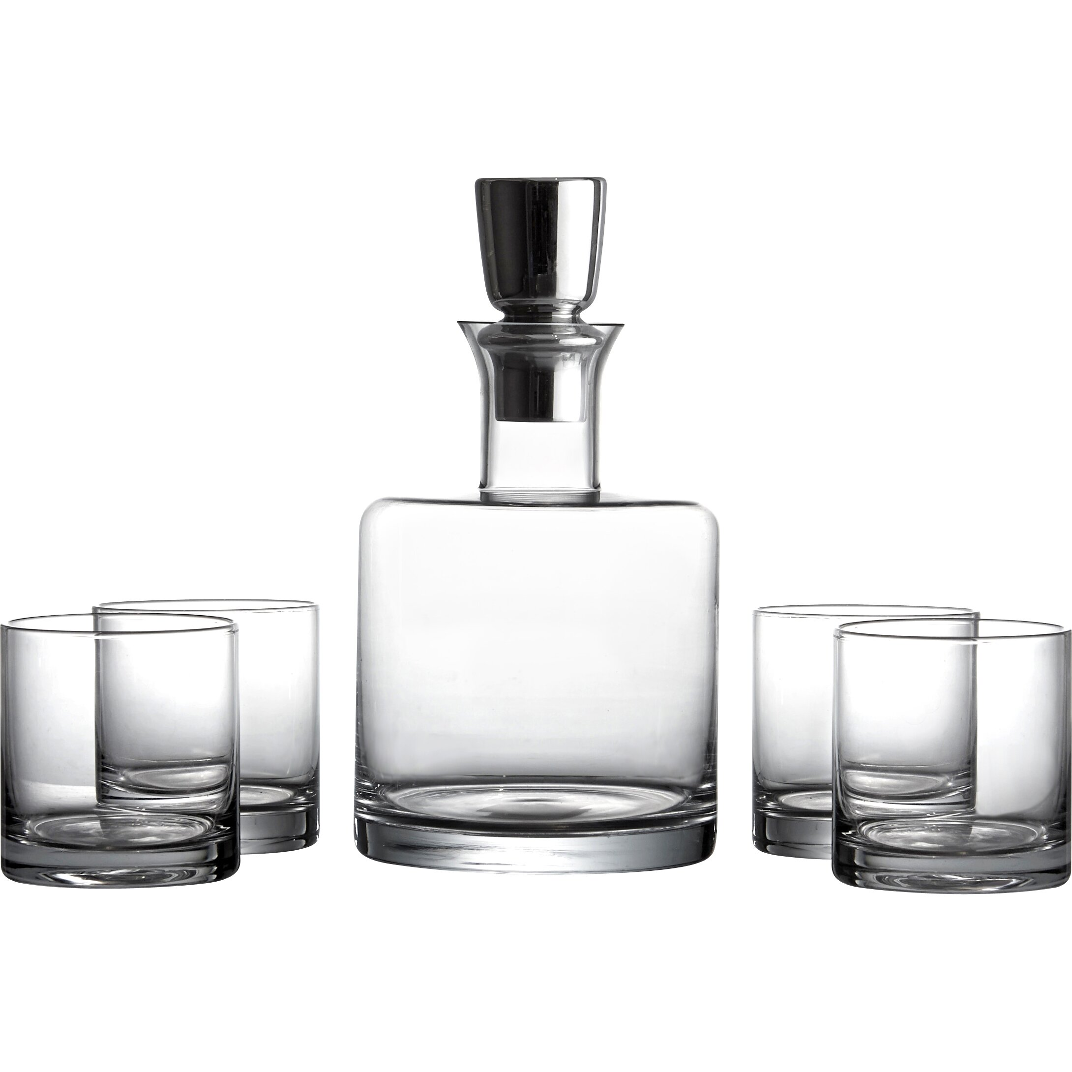 Design Guild 5 Piece Linus Whiskey Glass And Decanter Set