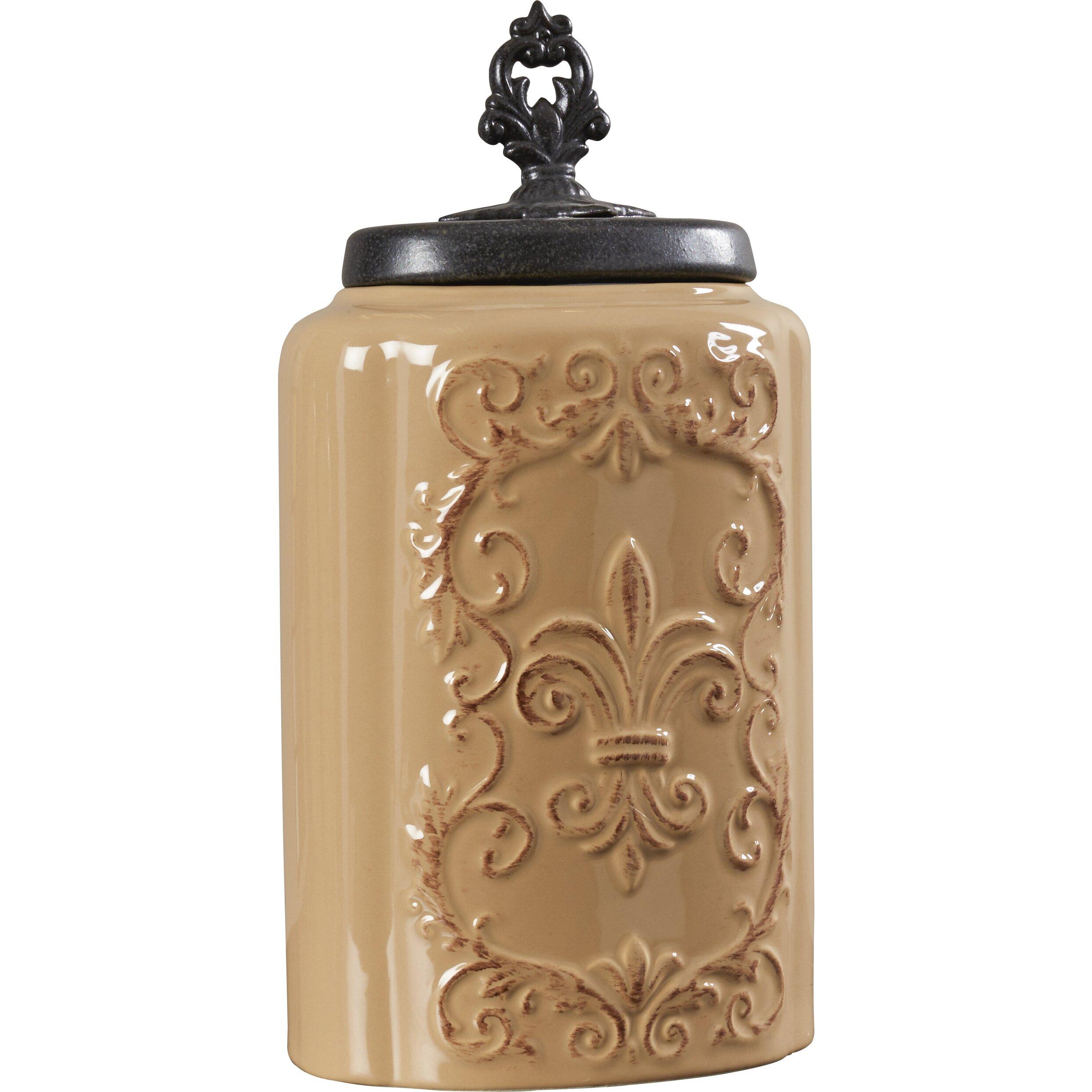 Design guild 3 piece canister set reviews wayfair for Kitchen decoration piece
