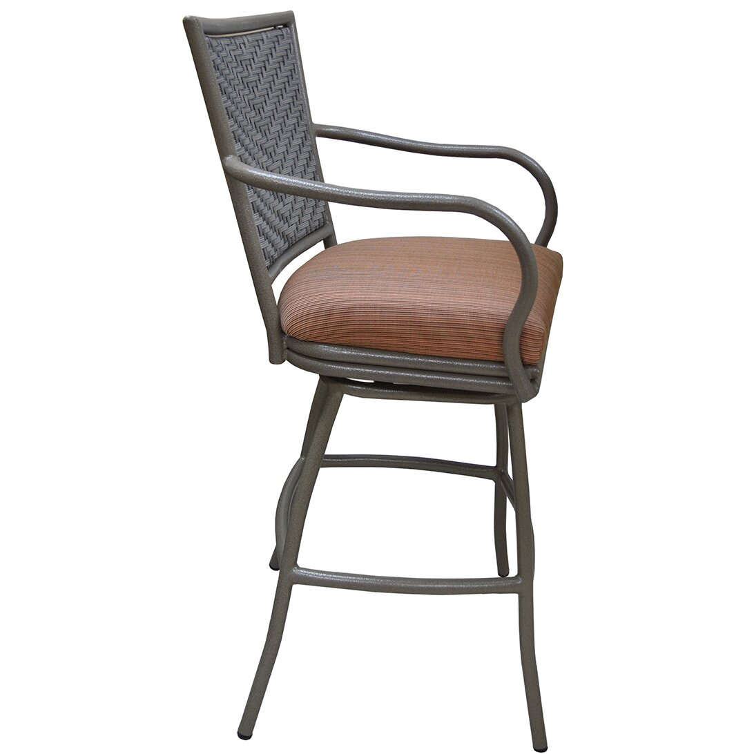Tobiasdesigns Erin 26 Quot Bar Stool With Cushion Wayfair