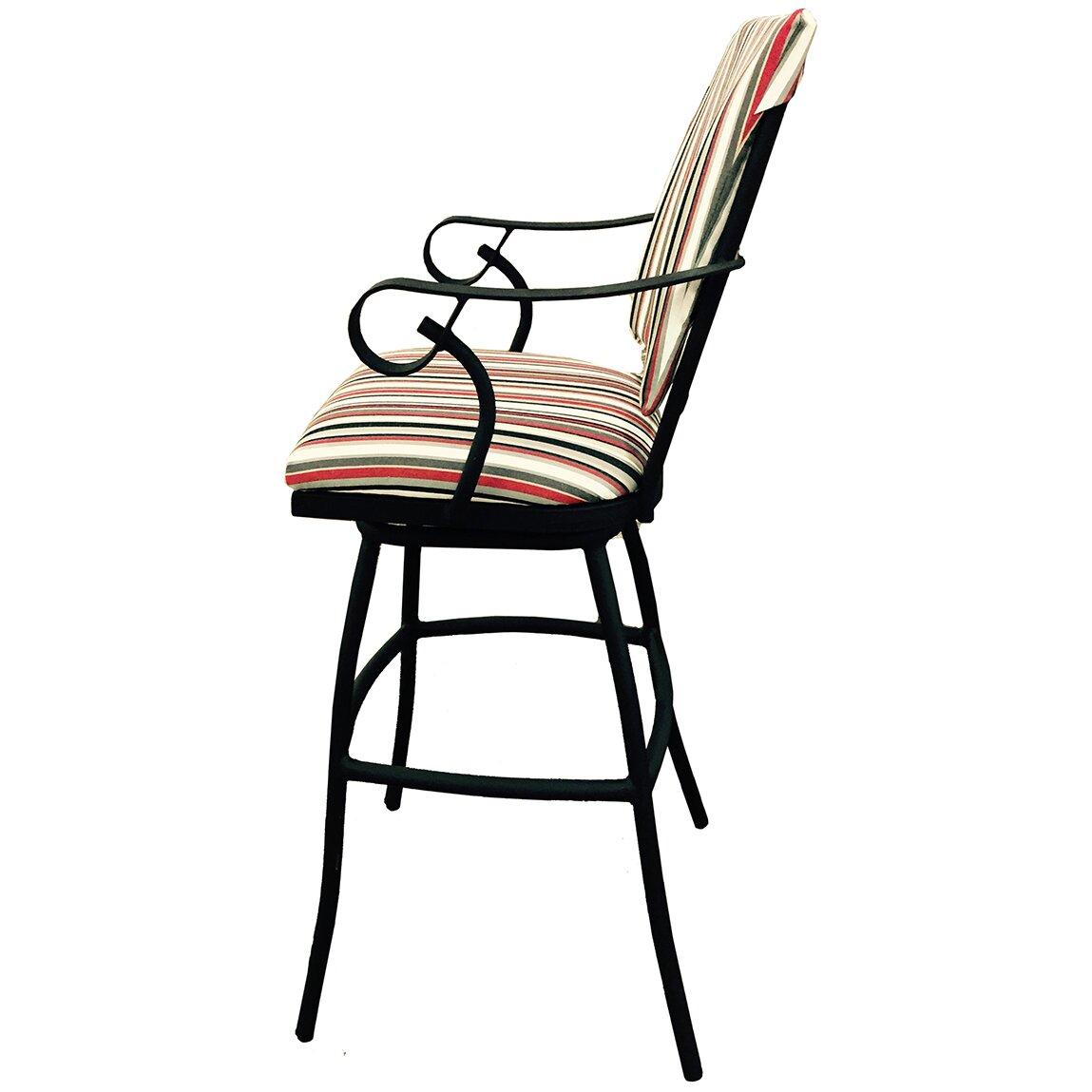 Tobiasdesigns Jenna 35 Quot Bar Stool With Cushion Wayfair