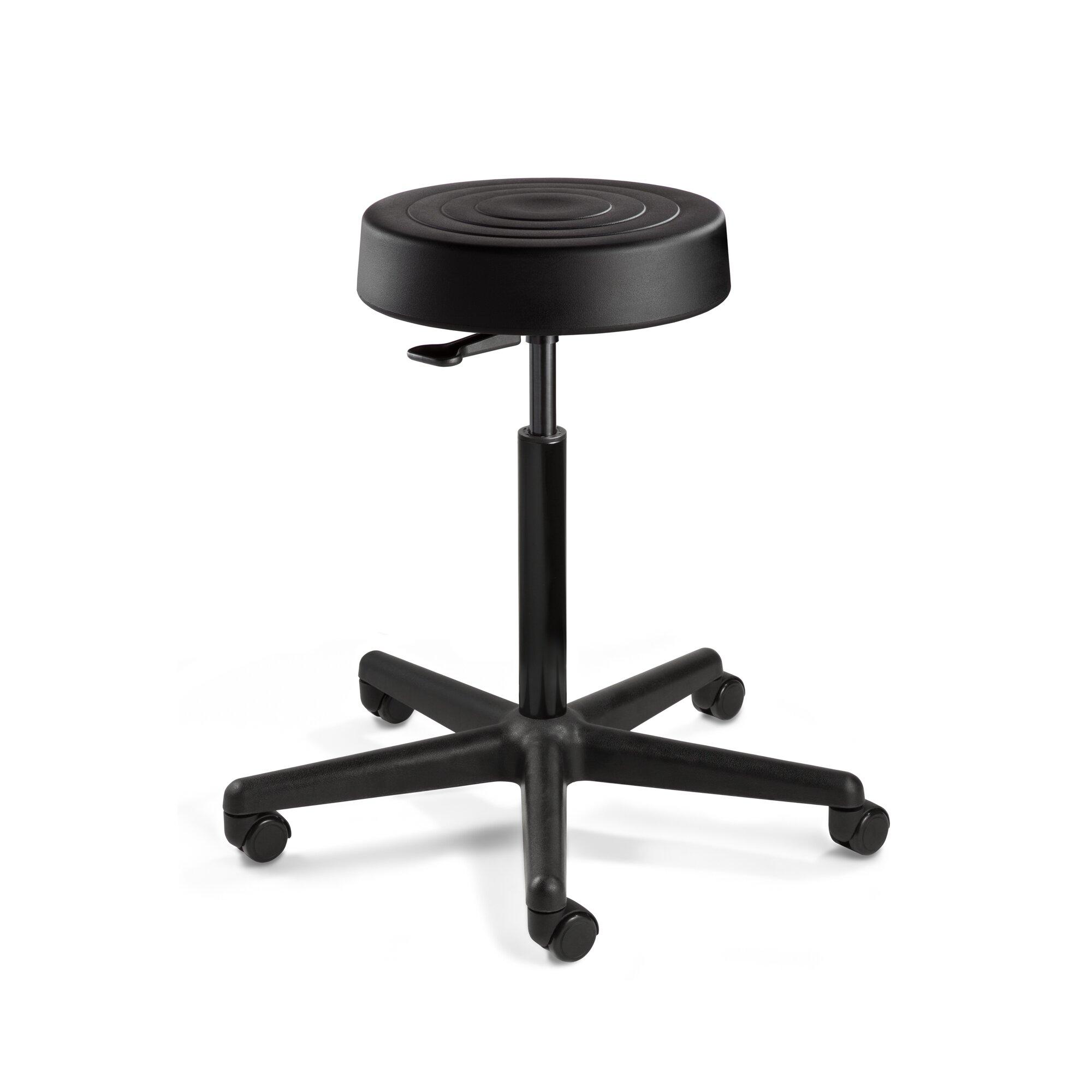 bevco ergolux height adjustable stool with casters wayfair. Black Bedroom Furniture Sets. Home Design Ideas