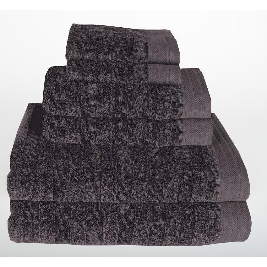 Mi casa deco darwin 6 piece towel set reviews wayfair for Mi casa deco