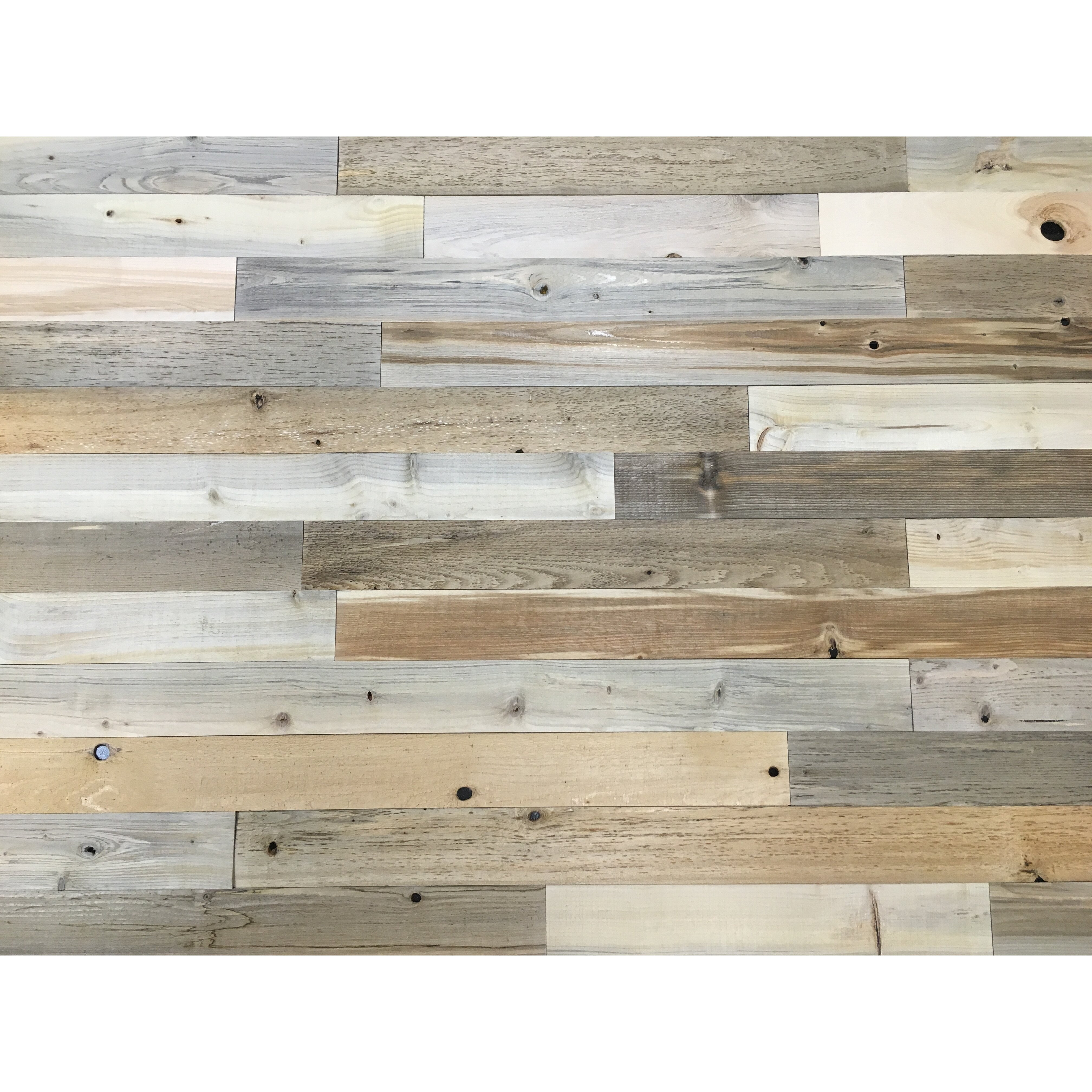 Wonderful image of TimberChic 3 Reclaimed Wood Wall Paneling in Natural & Reviews  with #7D6C4E color and 4032x4032 pixels