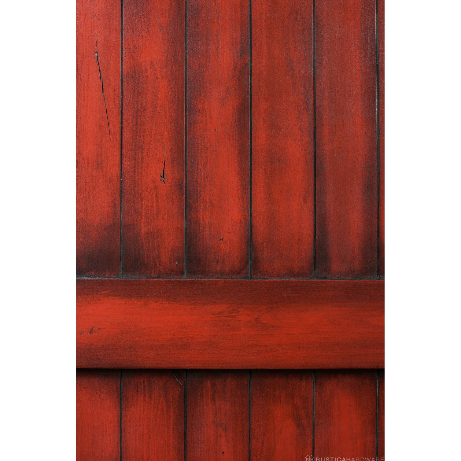 Rusticahardware Ranch Wood 1 Panel Stained Sliding Barn