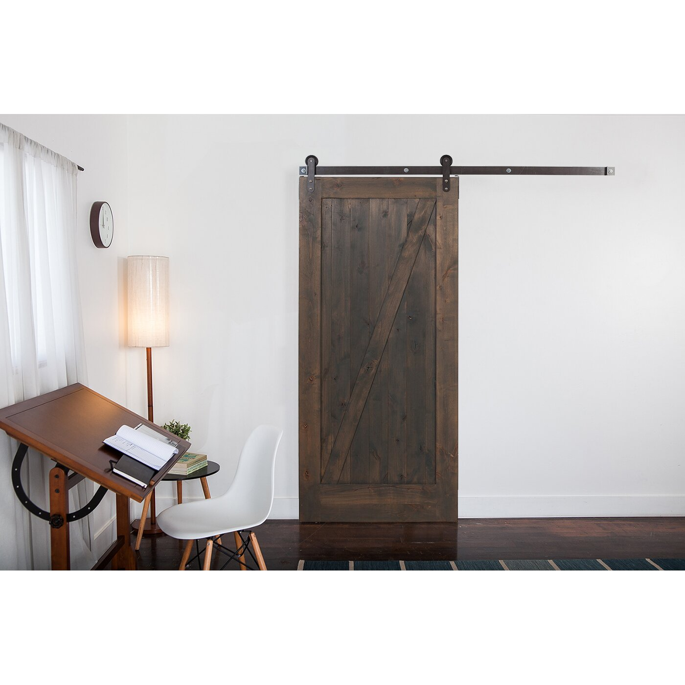 Rusticahardware Wood 1 Panel Stained Sliding Barn Interior Door Reviews Wayfair