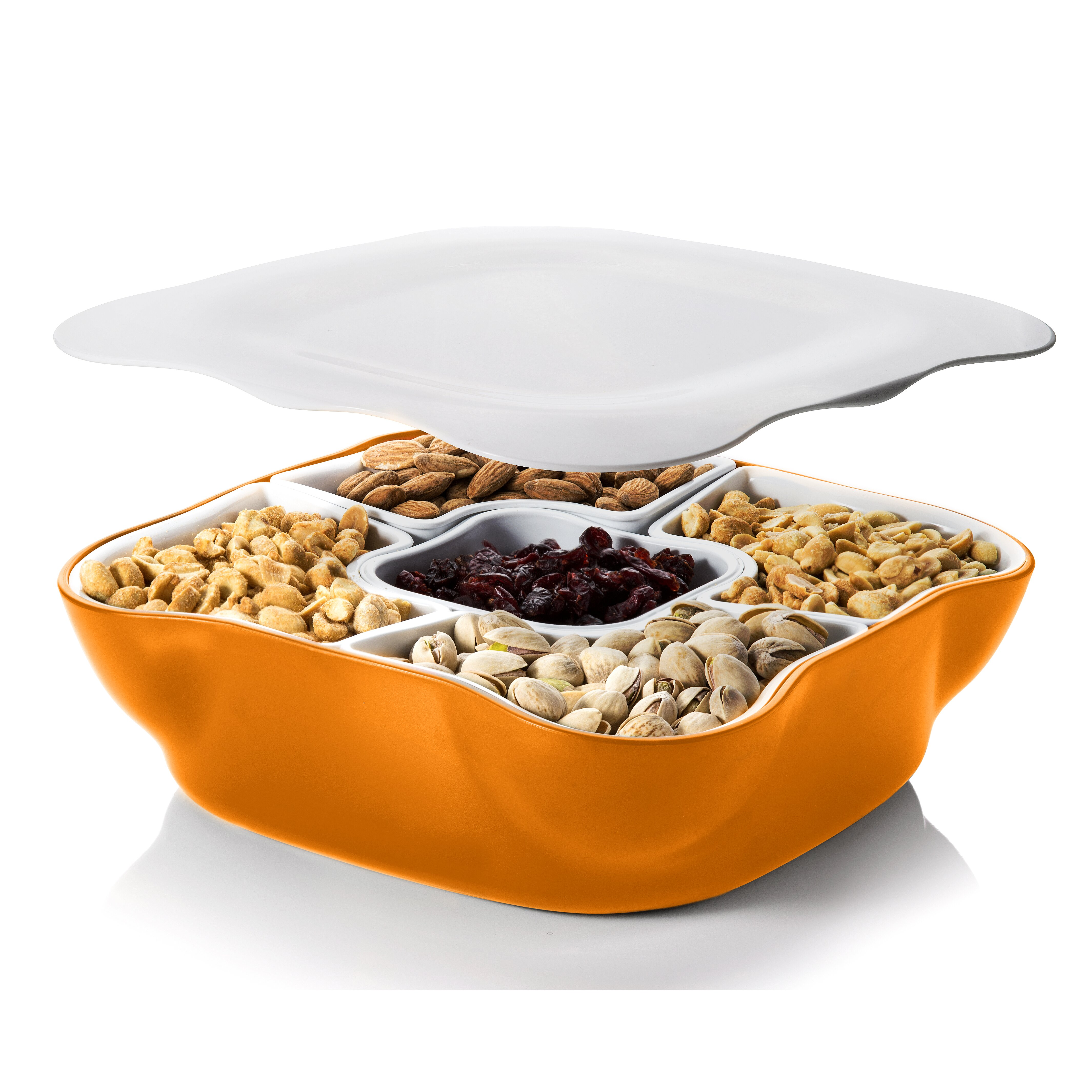 Home And Above Creative Multi Sectional Snack Serving Tray