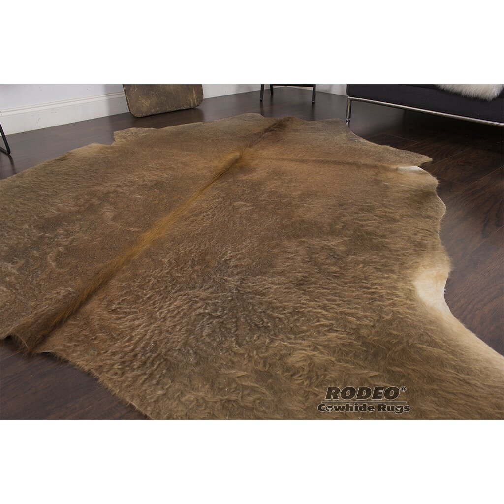 Rodeo rodeo brown area rug wayfair for Where can i buy area rugs