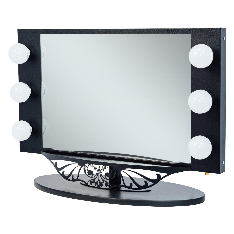 vanity girl hollywood starlet lighted vanity mirror reviews wayfair. Black Bedroom Furniture Sets. Home Design Ideas