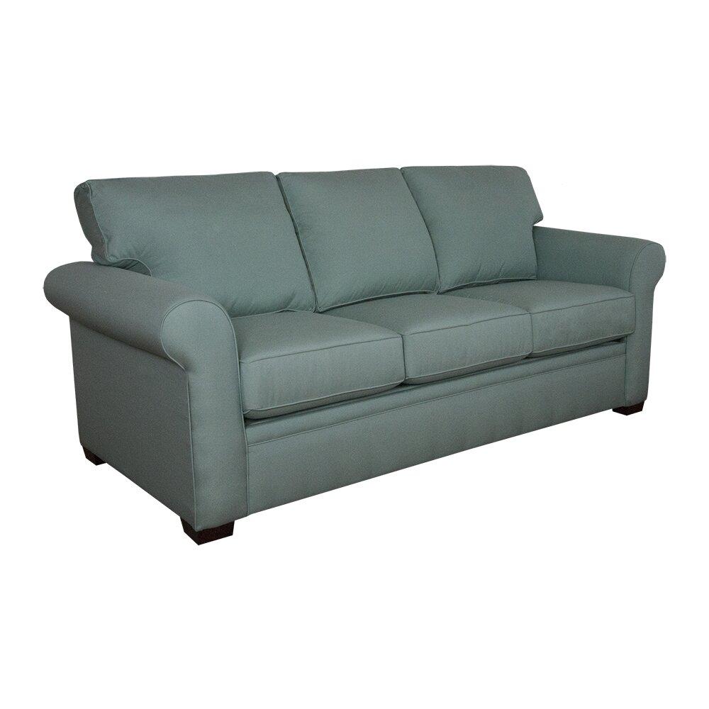 Graftonhome teal sleeper sofa wayfair for Teal sofas for sale