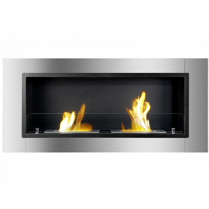 ignis lata ventless wall mount ethanol fireplace wayfair