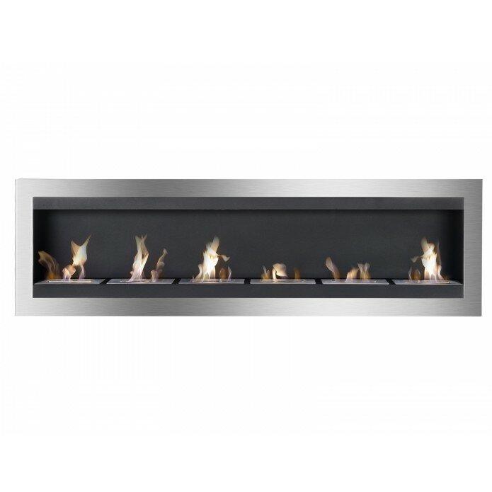 ignis maximum wall mount ethanol fireplace wayfair