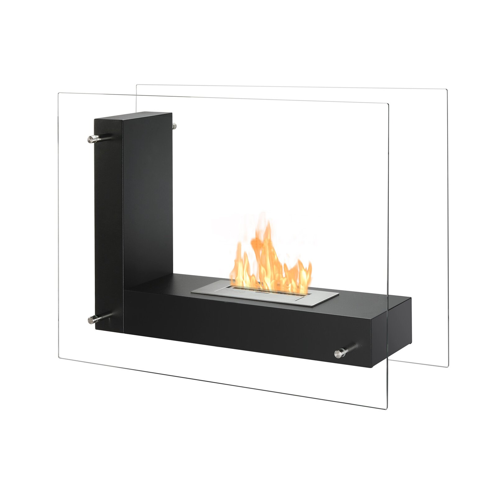 Ignis Vitrum L Freestanding Ventless Ethanol Fireplace Reviews