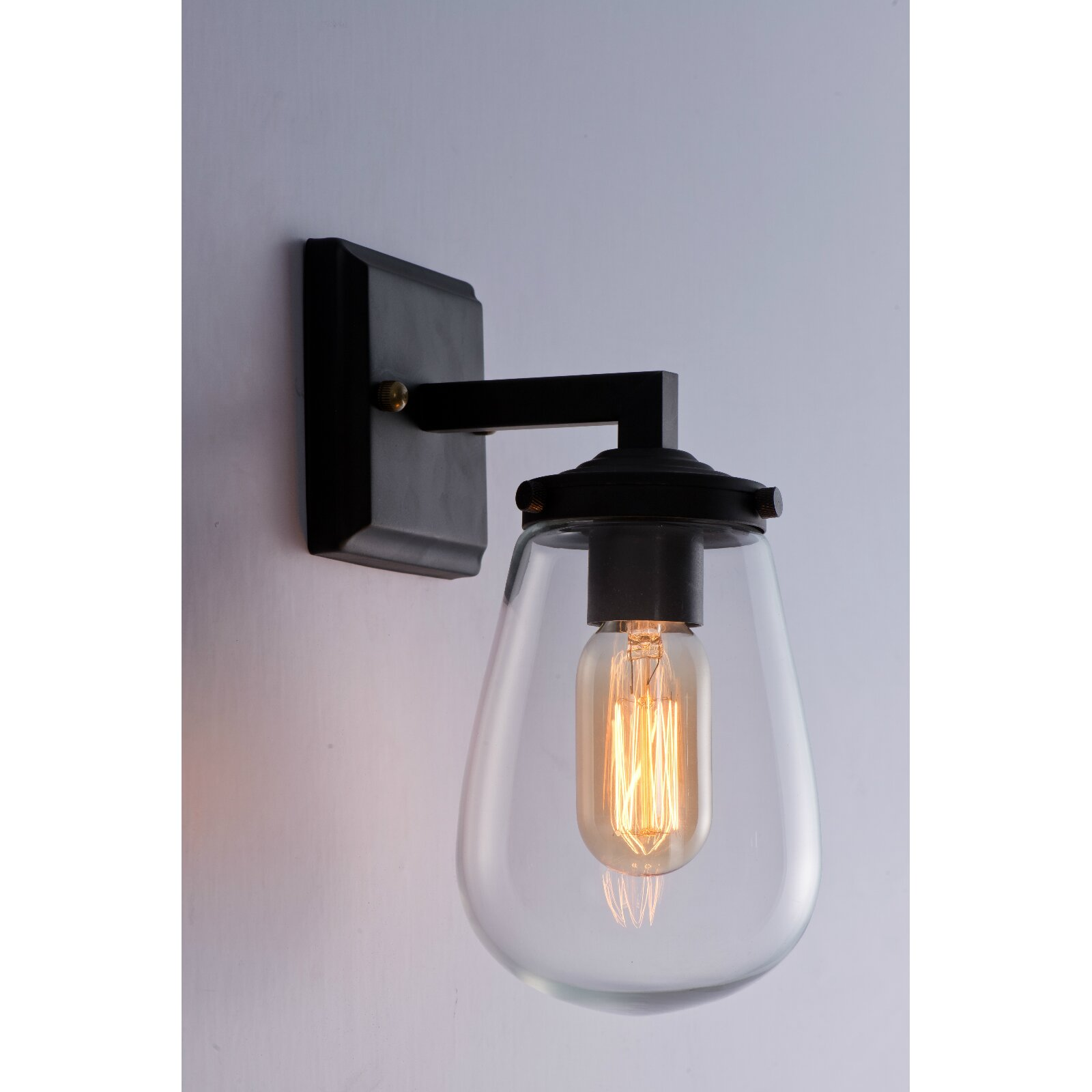 Wall Sconce With Magnifying Glass : LightingWorld 1 Light Wall Sconce & Reviews Wayfair.ca