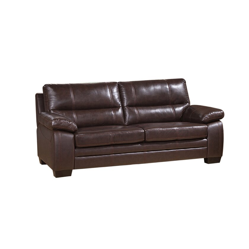 Coja easton leather sofa loveseat and chair set for Leather sofa and loveseat set