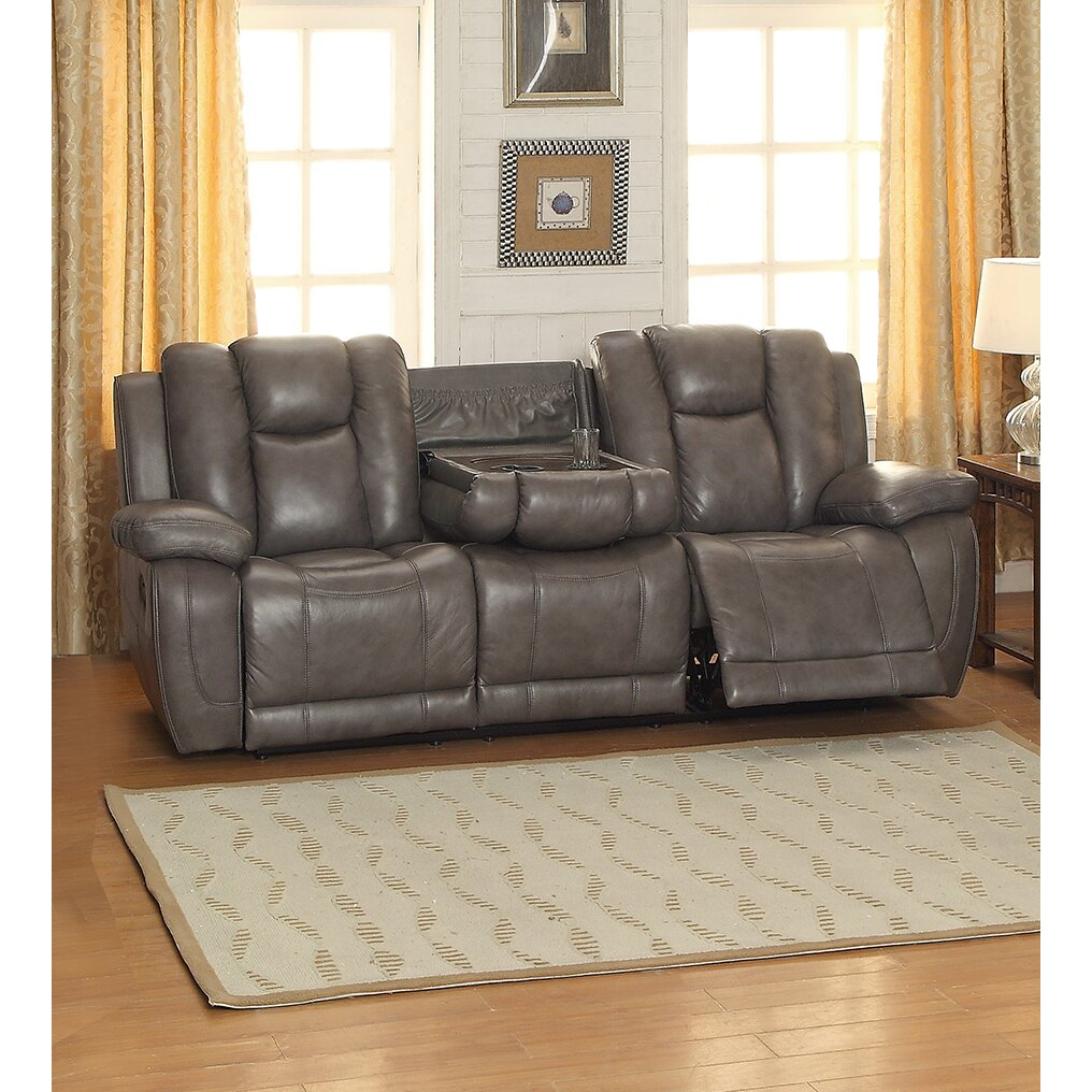 Coja Fleetwood Leather Reclining Sofa | Wayfair.ca