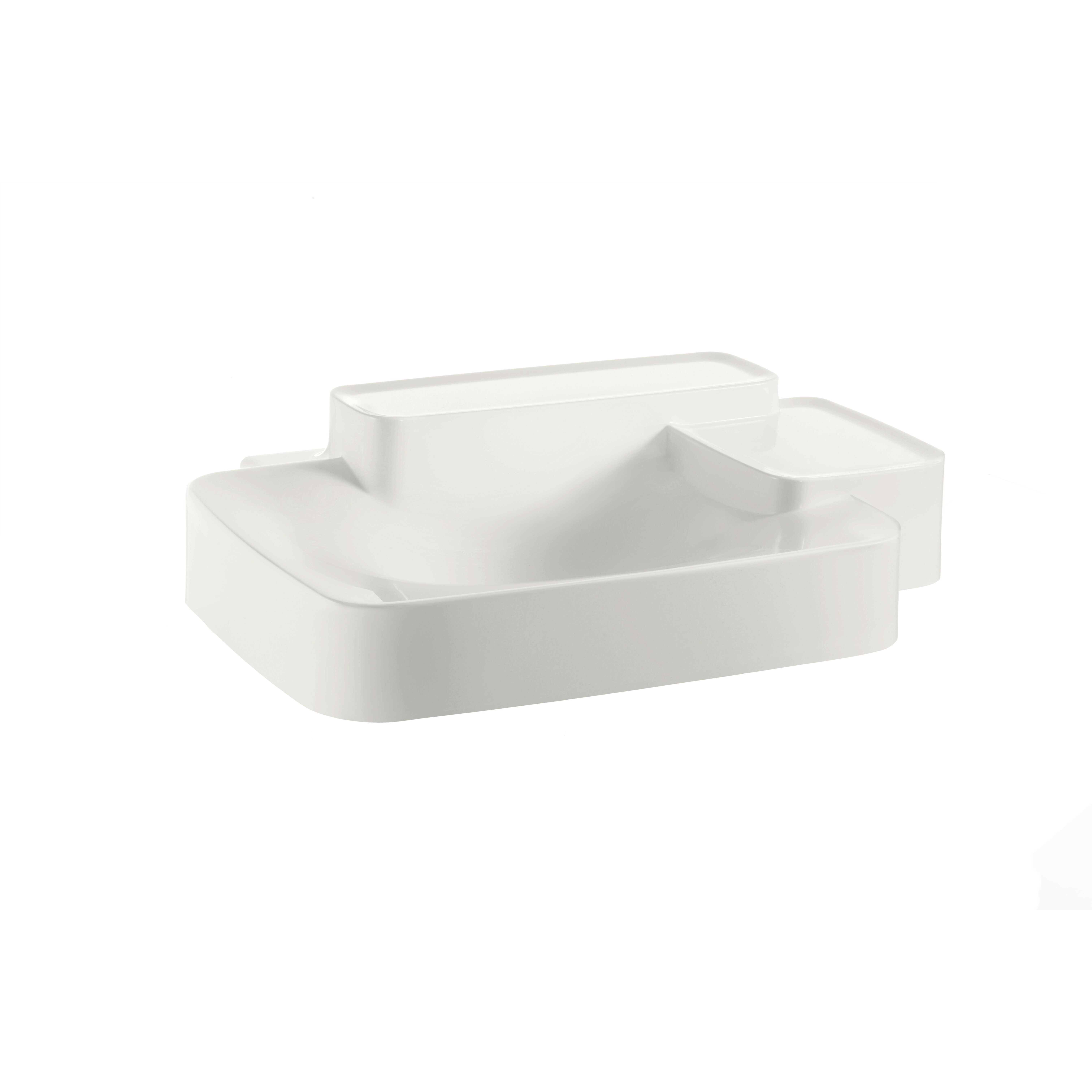 Axor Axor Bouroullec Small Wall Mounted Bathroom Sink with Two Shelves ...