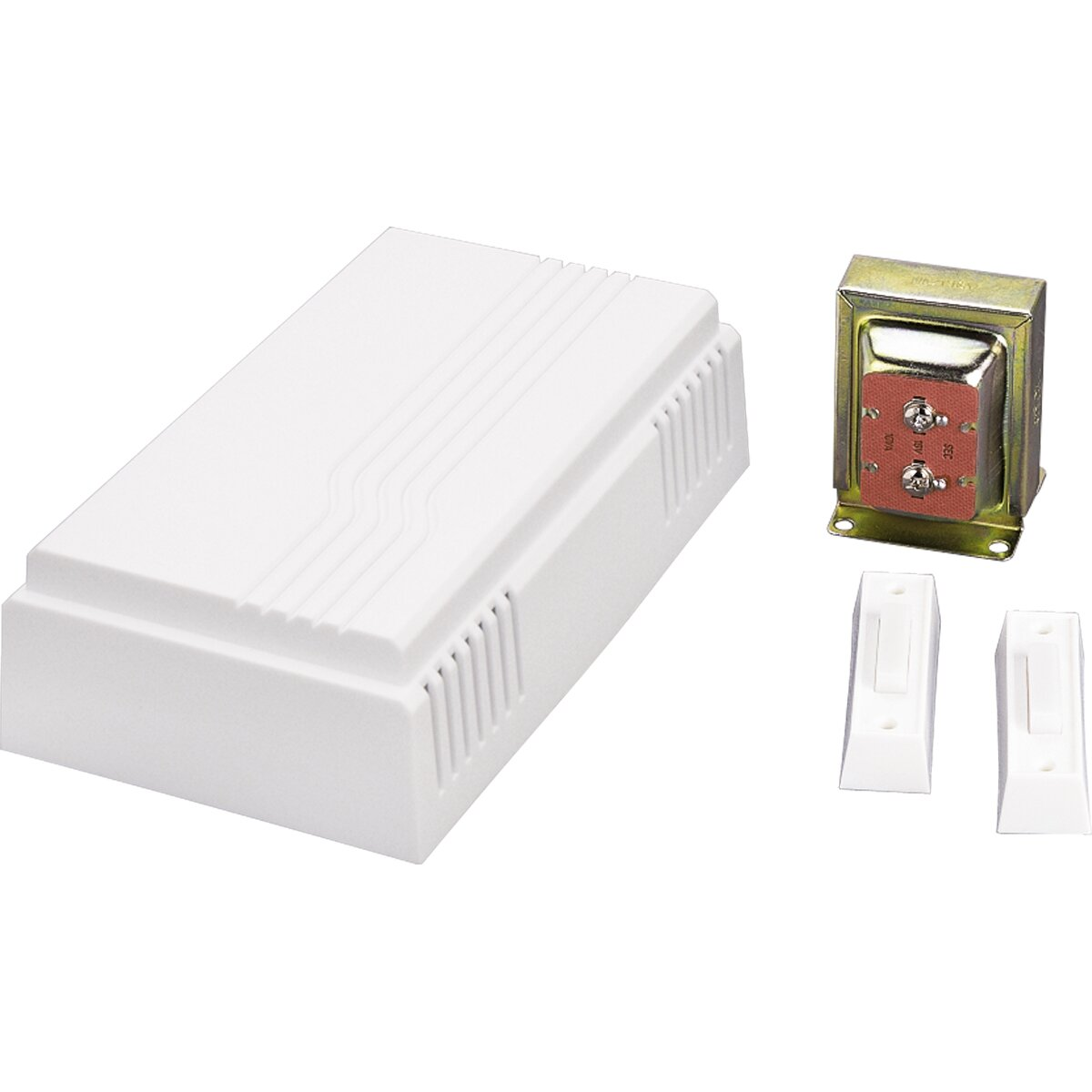 Progress lighting textured white door chime kit with one for 1 by one door chime