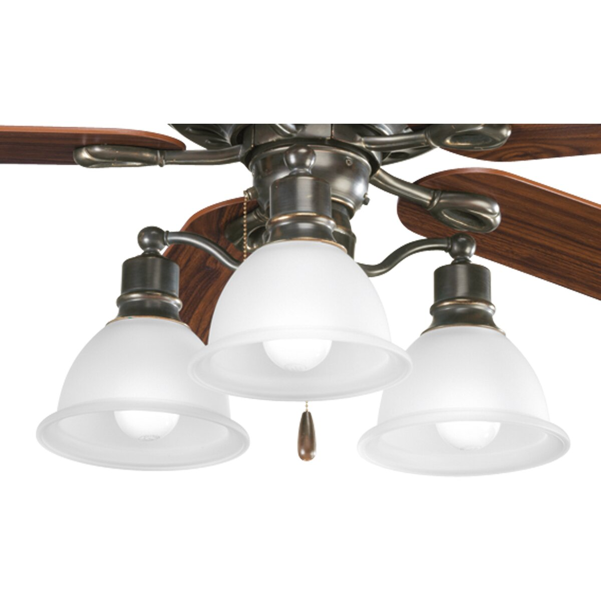 progress lighting madison 3 light branched ceiling fan. Black Bedroom Furniture Sets. Home Design Ideas