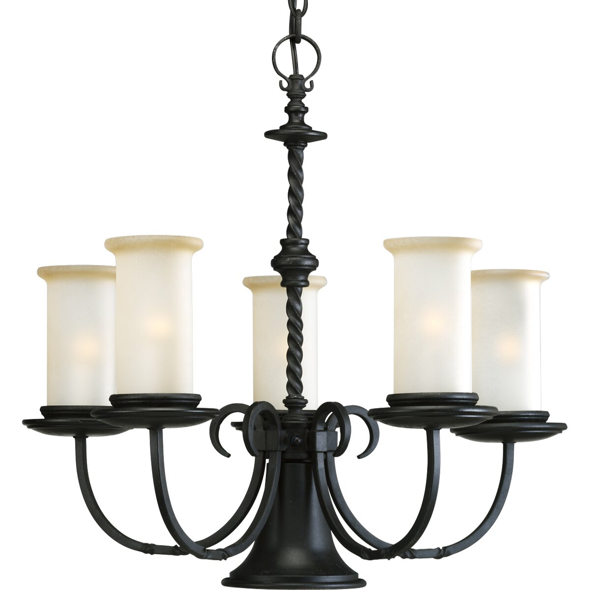 Wayfair Chandelier: Progress Lighting Santiago 5 Light Chandelier & Reviews