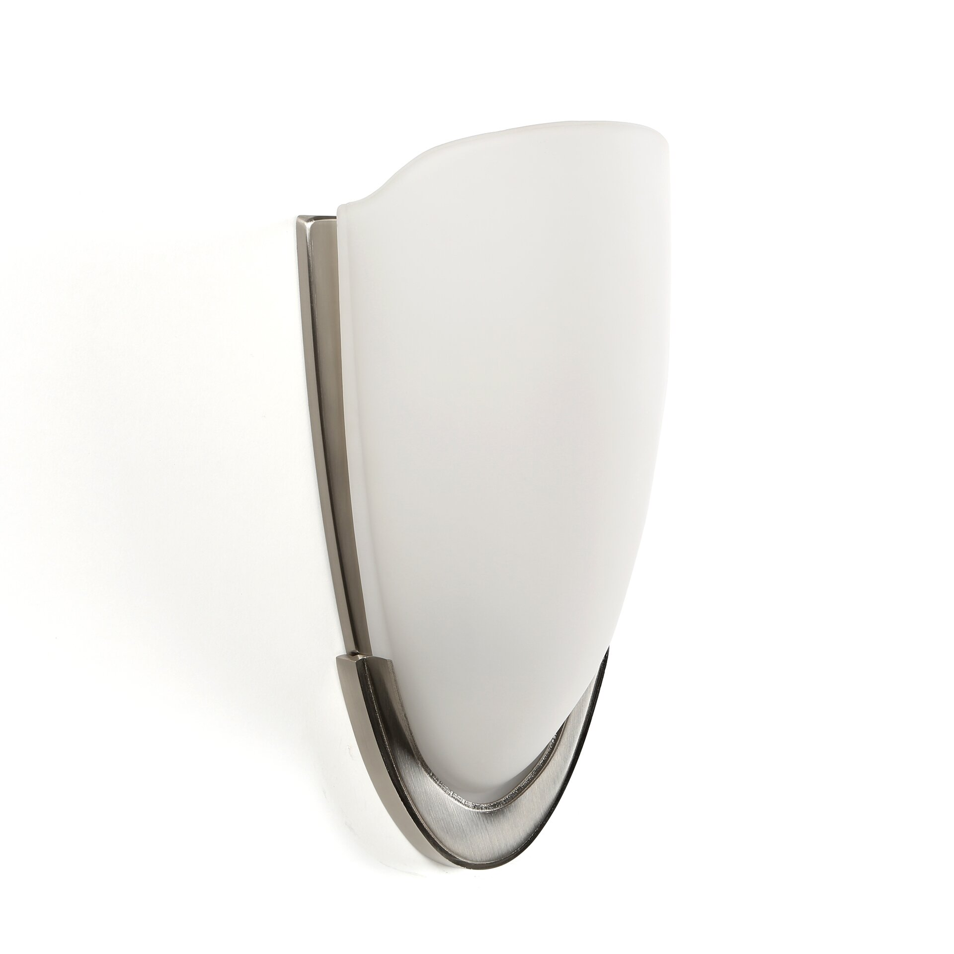 Ada Bathroom Wall Sconces : Progress Lighting ADA Sconces Wall Sconce in Brushed Nickel with Etched Glass & Reviews Wayfair
