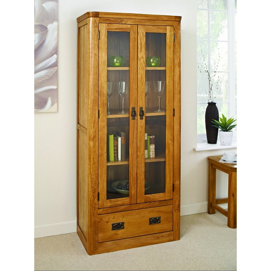 Hallowood Furniture London Solid Oak Display Cabinet Wayfair Uk