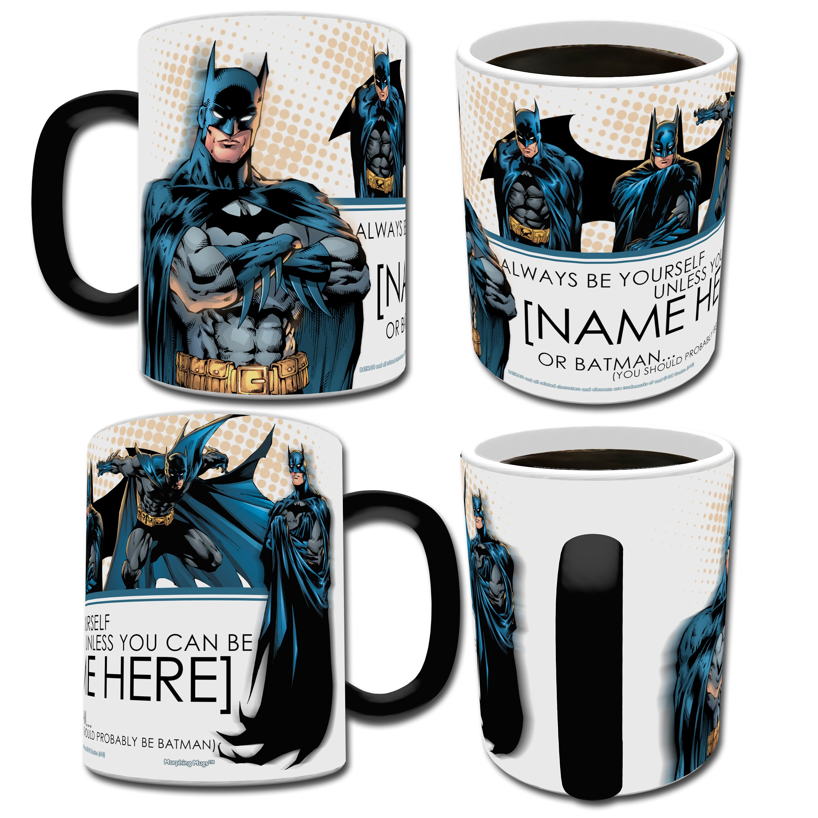 morphing mugs batman dc comics justice league personalized heat sensitive coffee mug wayfair. Black Bedroom Furniture Sets. Home Design Ideas